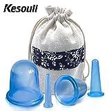 Anti cellulite Cup, Kesouli cinese massaggio Coppettazione set pezzi 4misure con borsa per il trasporto