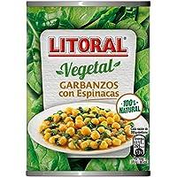 Litoral Vegetal Garbanzos con Espinacas - Plato Preparado Sin Gluten, paquete de 10 x 425