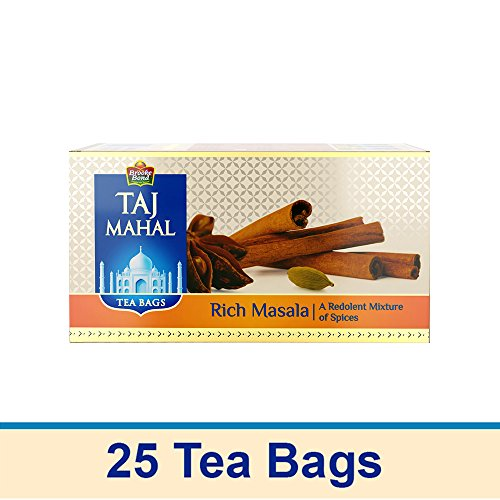 Taj Mahal Rich Masala Tea Bags, 25 Pieces