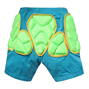 CHIC-CHIC Children Kids 3D Padded Shorts Protective Gear for Skating Skiing Snowboard Hockey Ridding Cycling Short Pants