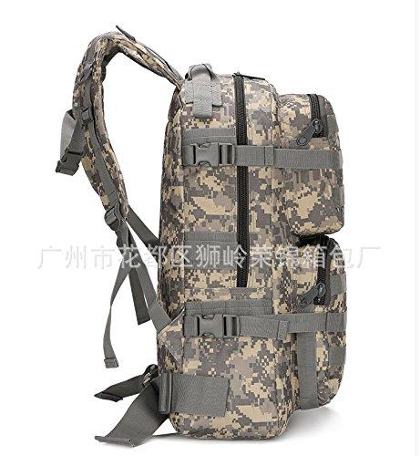 Wasserdichte outdoor Sport Umhängetaschen Mann bergsteigen Tasche Rucksack 50 * 34 * 18 cm, ACU Digital Schlamm Farbe
