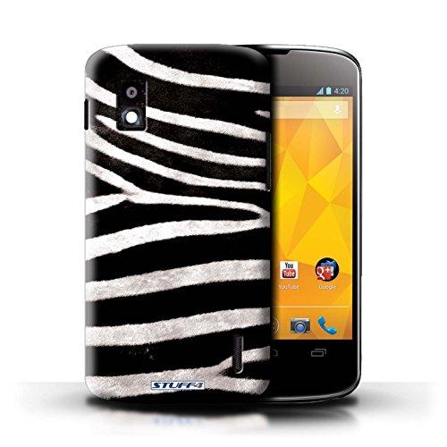 Kobalt® Imprimé Etui / Coque pour LG Nexus 4/E960 / Tigre conception / Série Motif Fourrure Animale Zèbre