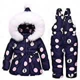 Winter Warm Daunenjacke Für Baby Mädchen Kleidung Kind Kleidung Sets Jungen Ente Daunenmantel Kids Snow Wear Infant Mantel 0-3 Jahre Alt,Blue,100Cm