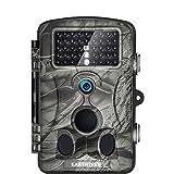 EARTHTREE Wildkamera Fotofalle Full HD 1080P 12M Jagdkamera mit 120°Weitwinkel Objektiv Fotofalle, 42 Low Glow Infrarot