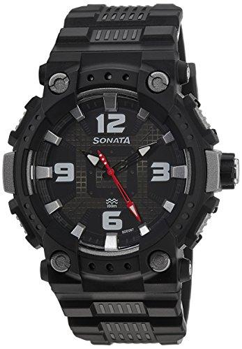 51rqubnVD7L - Sonata 77014PP01 Mens watch