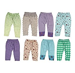 Guchu 100% Hosiery Cotton Baby Pyjama for Baby Boy, set of 8(F2-PJ-Bx8-65_Multi_65)