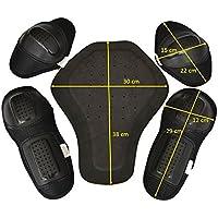 CE Protektoren Set 5x Protektoren für Motorrad Biker Jacke Protektorenset