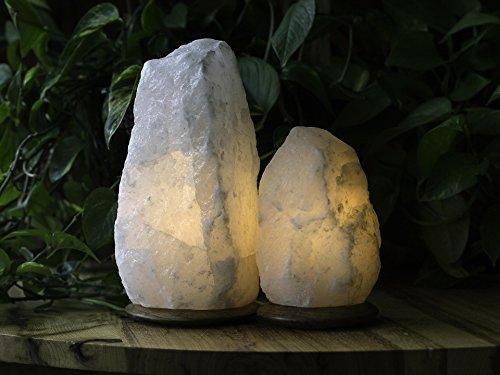 Salt Masters Rare White Natural Himalayan Salt Lamp - UK Plug &...