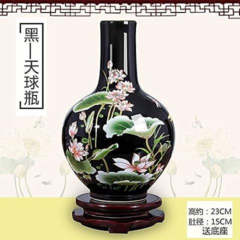 Gailun Vase Fleur De Lotus En Céramique Dimensions Nouveaux Ornements Chinois Home Server, 2