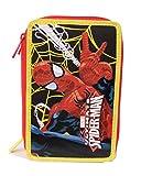 Seven Spider-man 329011603-899 Astuccio per Scuola, 3 Scomparti, Poliestere, Multicolore