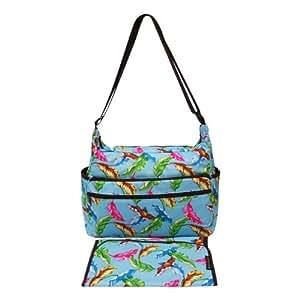 Momymoo Essentials Messenger Changing Bag Tropical