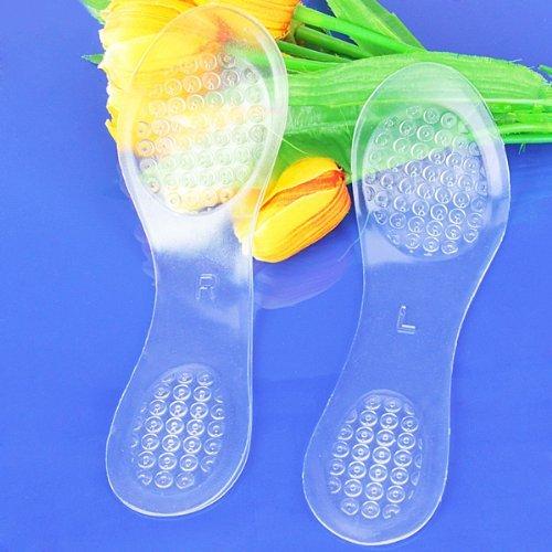 1 Paire Semelles Coussinets en Gel Silicone Transparent Pour Chaussures à Talons Hauts - Taille US des Femmes 4