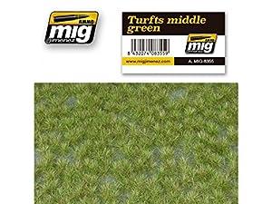 AMMO MIG-8355 Turfts - Alfombrillas para césped, Color Verde