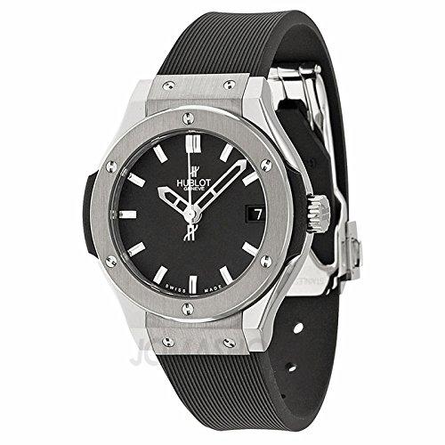 Hublot Hublot Classic Fusion Schwarz Zifferblatt Schwarz Gummi Damen Watch 581.NX.1170.RX