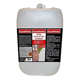 CleanPrince 2 Liter Steinplattenreiniger Steinreiniger auf Aktivchlorbasis säurefrei alkalisch Plattenreiniger Kanister Steine Außenreiniger Mauern Fassaden Beton Entferner Anti Grünbelag Grünspan