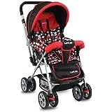 LuvLap Sunshine Stroller/Pram, Easy Fold, for Newborn Baby/Kids, 0-3 Years (Red)