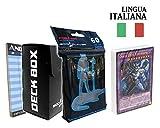 Andycards Structure Deck Attacco degli Eroi - Mazzo Yugioh SDHS in Italiano + 60 Bustine Protettive God-Player Nere + Deck Box Nero + Segnapunti