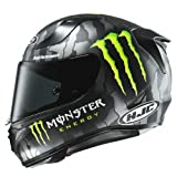 HJC Motorradhelm RPHA 11 Monster Military Camo, Schwarz/Rot, Größe L
