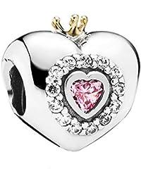 Pandora Charm rosafarbenes Prinzessinenherz