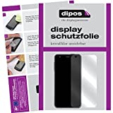 dipos I 6X Schutzfolie klar passend für Motorola Moto X Force Folie Bildschirmschutzfolie