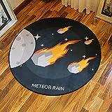 YXZN Runder Teppich Wohnzimmer Couchtisch Kissen Kissen Boden Boden dekorativer Bereich,color1,diameter160cm