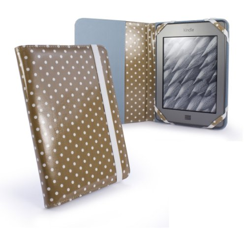 tuff-luv-slim-fabric-case-cover-for-amazon-kindle-4-6-e-ink-touch-paperwhite-beige-polka-hot