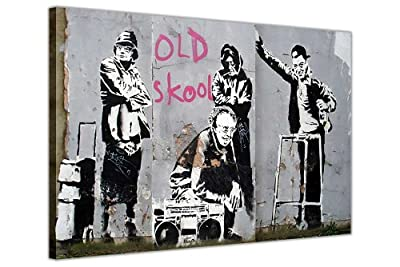 Banksy Pictures Canvas Wall Art Prints Old Skool Grannies Thug Home DÉcor Room Decoration Street Art Graffiti Photos