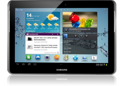 Samsung Mobile Samsung Galaxy Tab 2 P5110 WIFI Tablet (25,7 cm (10.1 Zoll) Display, 1GHz Prozessor, 1GB RAM, 16 GB Speicher, 3,2 Megapixel Kamera, Android) titanium-silber