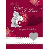 One I Love Birthday Luxury Me to You Bear Pop Up Card