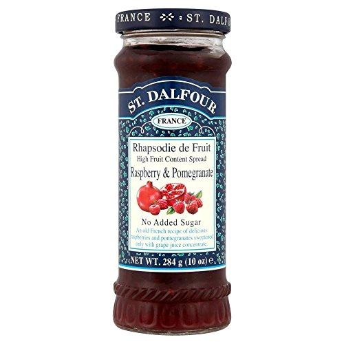 St. Dalfour Zucchero Rhapsodie De Frutta Lampone E Marmellata Di Melograno Non Aggiunti (284g) (Confezione da 6)