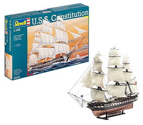 Revell- u.s.s. constitution modello, scala 1:146, multicolore, 05472