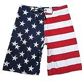 Baymate Herren Lange Badeshorts USA Flagge Stil Surf-Shorts Badeshorts