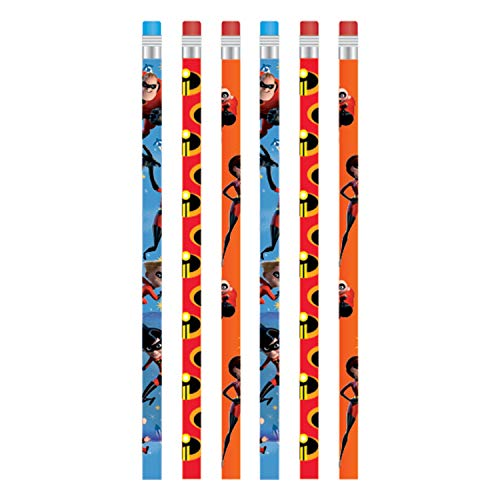 Amscan Incredibles 2 Party Supplies Bleistifte (Pixar Party Supplies)