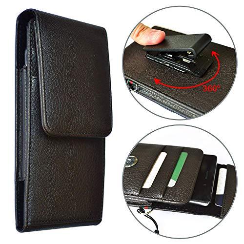 Porta cellulare per smartphone Universale portafoglio CLIP da Cintura regolabile e angolabile da 5.2' a 5.7' pollici - NERA cm 16x8x1,5
