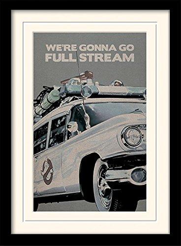Ghostbusters Dekorationen (1art1 101635 Ghostbusters - Ectomobile Gerahmtes Poster Für Fans Und Sammler 40 x 30)
