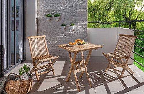 Sam Sam Teak Holz Balkontisch Square 60x60 Cm Klappbarer Tisch