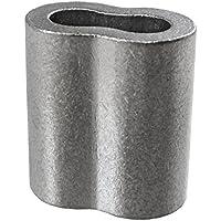 Loos cableware SL2–3TP 50Stück Verzinnter Kupfer Crimp Sleeve Set für 3/81,3cm Durchmesser Draht Seil (50Stück)