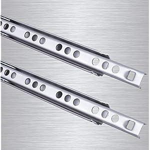 Schubladenschienen 2 STÜCK Teilauszug Rollenauszug Kugelführung H: 17 / L: 246 mm