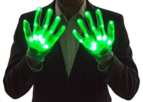 NEON NIGHTLIFE Boy Light Up Handschuhe, LED, Grün