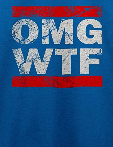 Omg Wtf T-Shirt Royal Blau