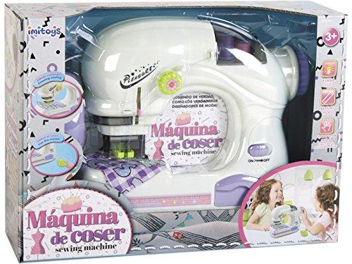 IMITOYS Máquina de Coser Blanca con Ratón y Luz