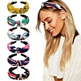 DRESHOW 8 Pieces Wide Headbands Knot Turban Headband Hair Band Elastic Hair Accessories for Women and Girls