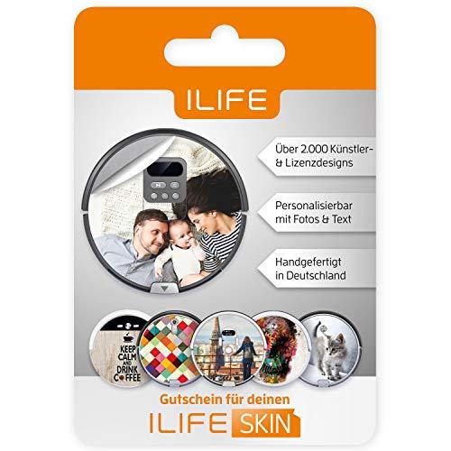 ILIFE Saugroboter Skin Gutschein | Gestalte Deine eigene Roboterstaubsauger Folie | passender Aufkleber Modelle V3s, V5s Pro, V4, V80, A4s, A40, A6, A7, A8