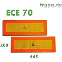 Trupa - 2señalizaciones para parte trasera, 565 x 200 mm, ECE 70, para remolques
