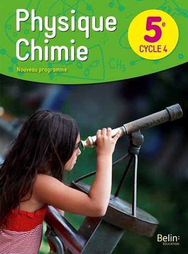 Physique chimie 5ème livre de l'élève
