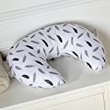 Cuscino per allattamento al seno decorato con piume