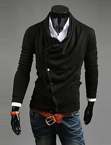 XX&GX LEEBIN Fashion Equipaggiata Pile collare a maniche lunghe cappotto (nero) , black , xxl