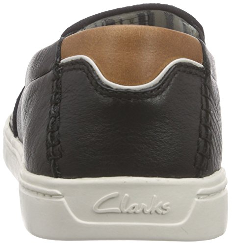 Clarks Newood Easy 261156737 Herren Slip On Schwarz (Black Leather)