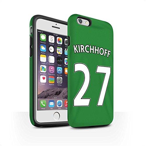 Offiziell Sunderland AFC Hülle / Matte Harten Stoßfest Case für Apple iPhone 6 / Jones Muster / SAFC Trikot Away 15/16 Kollektion Kirchhoff