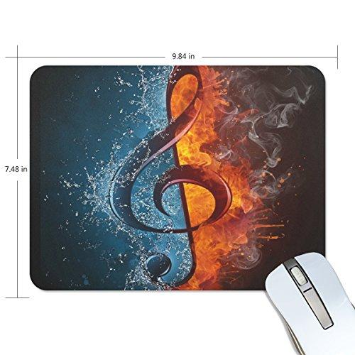 zzkko Fire Wasser Musik Note rutschfest 25cm (L) x7.48
